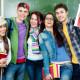Portrait of  smiling students together